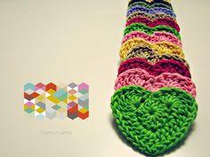 hamoraima: coaeurs au crochet