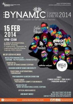 BynamicFest 2014 w/ Midnight Quickie, Sweet As revenge, Adhitia Sofyan, Souljah