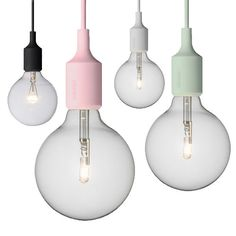 DESIGNDELICATESSEN - Muuto E27 Socket Pendant Lamp - new colours coming soon http://www.nest.co.uk/search/muuto-e27-socket-suspension-light