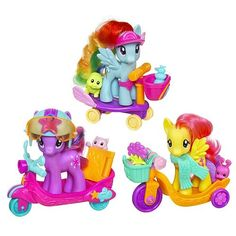 my little pony toys | G4 My Little Pony - Ponies on the Go - wave 1.