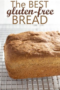 The best gluten-free bread you'll ever make or eat. The best gluten-free bread you'll ever make or eat. Gluten Free Sandwiches, Sandwich Bread Recipes, Easy Bread Recipes, Muffin Recipes, Lunch Recipes, Healthy Recipes, Best Gluten Free Bread, Gluten Free Baking, Gluten Free Recipes