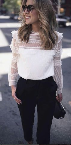 Women Clothing 100 Fall Outfits to Wear This 2018 Vol. 2 057 Women ClothingSource : 100 Fall Outfits to Wear This 2018 Vol. 2 057 by linreh Trendy Summer Outfits, Fall Outfits, Casual Outfits, White Outfits, Dress Casual, Night Outfits, Classy Outfits, Casual Shirts, Mode Outfits