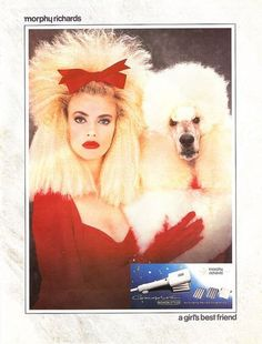 80s ad for a hair crimper... It just really crosses the line of looking like your pet. XD