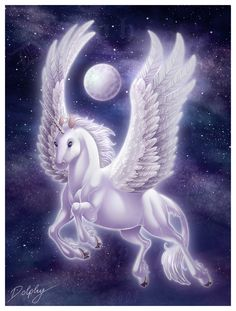 Winged Unicorn by DolphyDolphiana.deviantart.com on @deviantART