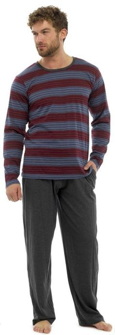 Tom Franks Men's Jersey Long Pyjama Set -- Awesome products selected by Anna Churchill
