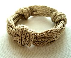 Silk Rope Triple Square Knot Knit Bracelet in by ClementineBrown, $22.00