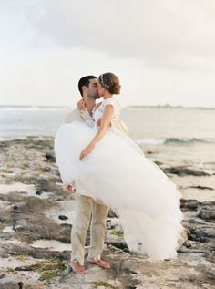 A beachy Mexico wedding that'll sweep you right off your feet: http://www.stylemepretty.com/destination-weddings/2015/08/18/romantic-barefoot-beachfront-tulum-wedding/ | Photography: Michelle Boyd - http://www.michelleboydphotography.com/