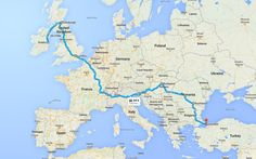 Expected route Gumball 3000 2016 Gumball 3000, Dublin, Super Cars, Istanbul, Racing, Rally, Places, Running, Auto Racing