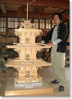 龍淵寺三重塔模型 Architecture Concept Drawings, Japan Architecture, Architecture Design, Japanese Home Design, Japanese House, Roof Design, House Design, Japanese Joinery, Roof Styles