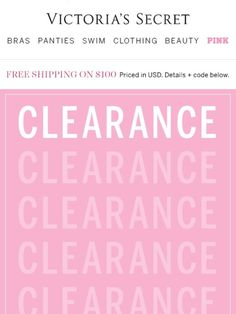 Sale mail: Clearance is up to 60% off! - Victoria's Secret
