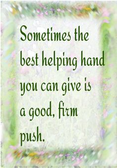 A good push...