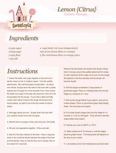 Sweetopia Lemon Cookies Recipe
