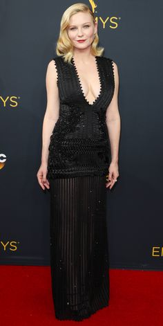See the Hottest Looks from the 2016 Emmy Awards Red Carpet - Kirsten Dunst from InStyle.com