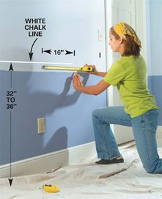 How to install a chair rail step by step