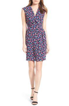 45bdfc89ee7d97 Anne Klein Adagio Print Faux Wrap Dress