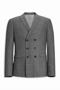 Серый костюм из текстурированной ткани: пиджак - Покупайте прямо сейчас на сайте Next: Россия
