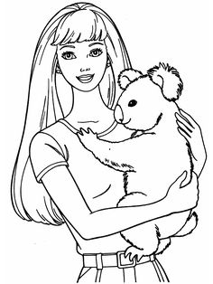 barbie coloring sheets to print out  Free Barbie Coloring Pages