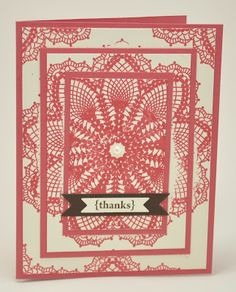Thanks - triple time stamping technique. So pretty with the large doily stamp