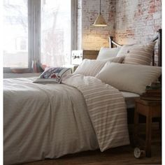 Jigsaw Antique Stripe Duvet Cover & Pillowcase - The Linen House