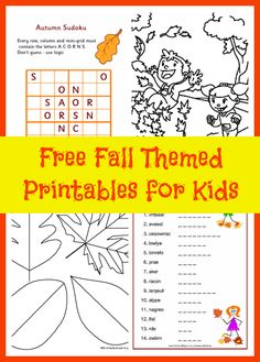 Fall is a great time for kids because of all the fun things like pumpkins, apples and Halloween. Kids love to color, do crafts and work on puzzles. Here are some places to find free fall themed printables online for kids. Activity Village– Activity Village has a ton of autumn printables to keep kids busy. …
