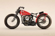The perfect proportions of the Harley-Davidson WR racing motorcycle. This particular machine, now in Australia, has quite a history behind it.