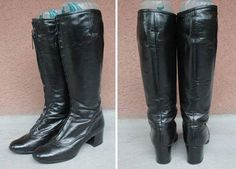 Vintage Bally Tall Boots  Bally Frontal Zip Equestrian Boots