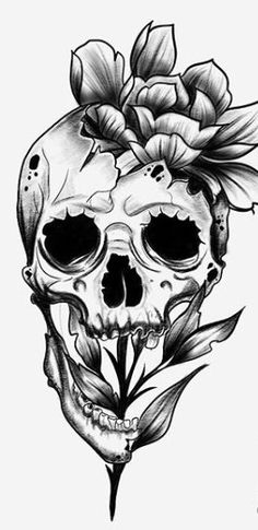 Discover recipes, home ideas, style inspiration and other ideas to try. Skull Rose Tattoos, Body Art Tattoos, Sleeve Tattoos, Skull Butterfly Tattoo, Key Tattoos, Flower Skull, Flower Mandala, Mandala Tattoo, Flower Tattoos