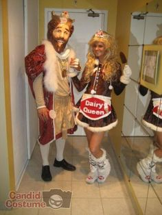 Burger King and Dairy Queen, Commercials,Fictional Character,Couple,COUPLE