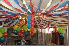 inside circus tent
