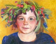 Oil on canvas. Portrait of Annika