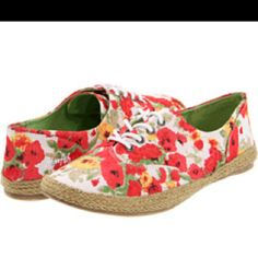 Floral lace up shoes   http://www.zappos.com/product/7892256/color/326443