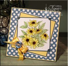 The Inking Spot of Crain Creations by Tangii Crain.  Daisy Patch by Just Inklined. #cards, #copics, #stamping