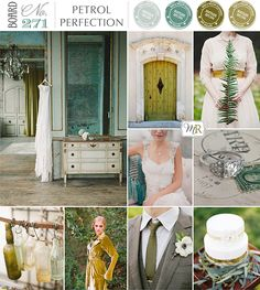 Petrol & Chartreuse Wedding Inspiration from Magnolia Rouge