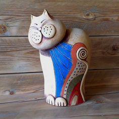 kočka zmalovaná / Zboží prodejce keramikas | Fler.cz