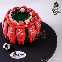 Pastel Equipo de Futbol (3D) | thecakeart.com