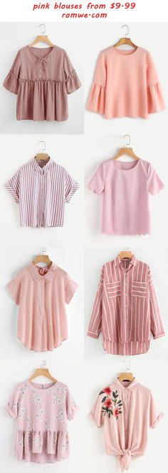 Shop online for the latest collection of PIN US Blouse 20170904 A Find the best styles and deals at ROMWE right now! Teen Fashion Outfits, Look Fashion, Outfits For Teens, Hijab Fashion, Korean Fashion, Girl Fashion, Summer Outfits, Casual Outfits, Girl Outfits
