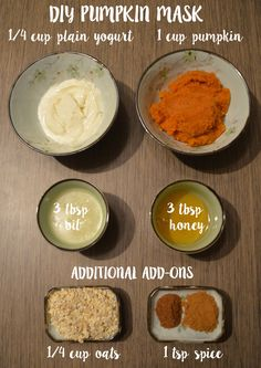 DIY Pumpkin mask, enzymes, dry skin, oily skin, dehydrated skin, make your own mask, esthetician, mask recipes, diy skin recipes