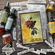 Tim Holtz Stamps, Ink Stamps, Stampers Anonymous, Ranger Ink, World Of Color, Distress Ink, Card Making, Stationery, Colours