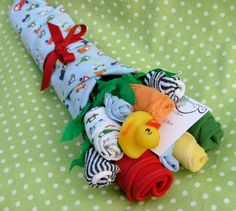 Boy's Baby Clothing Bouquet 9 pieces by babyblossomco on Etsy, $30.00
