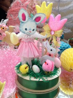 Vintage Inspired Easter  SuGaR SwEeT Spring Keepsake EASTER EGG  GARDEN Diorama Miss Bunny Boo by saturdayfinds on Etsy https://www.etsy.com/listing/224799135/vintage-inspired-easter-sugar-sweet