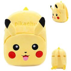 b1a9d295ec8c High Quality Children School Bag Baby Plush Cartoon Pikachu Backpack Boy Girl  Schoolbags Gift For Kindergarten Kids Mochila Toys