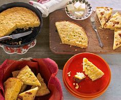 When it comes to cornbread, skillets remain the gold standard, producing baked goods with crunchy edges and a light, tender crumb. Try this yummy version, laced with cheddar cheese and tarragon.  Recipe: Cheddar-Tarragon Cornbread   - Redbook.com