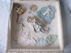 """RARE Mignonette from """"Poupee Modele"""" in Its Case and Wonderful Trouseau 