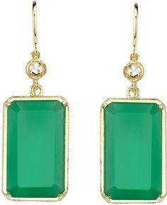 irene neuwirth earrings / love the green.