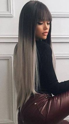 How to shade black hair? Which tones are suitable? Those who want a shadow to their black hair here! I seem to hear you say, will black hair be dark? Long Black Hair, Dark Hair, Ombre Hair, Balayage Hair, Blonde Ombre, Weave Hairstyles, Cool Hairstyles, Hair Color For Women, Light Hair