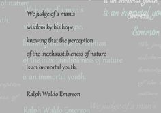we judge of a man's wisdom by his hope