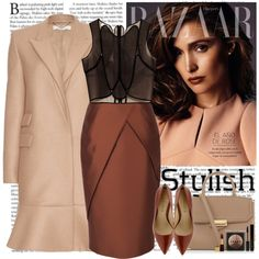 """""""nude & brown"""" by helena99 on Polyvore"""