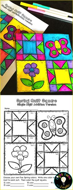 Celebrate spring with art and math facts, and make a class quilt! Includes addition and multiplication. For grades 1-4 on TpT. $