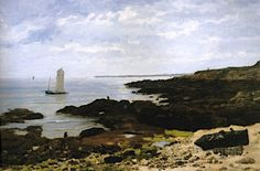 "Elodie La Villette, ""Larmor Plage"", 1879  - Brittany: Images, Things and Places: seaweed"