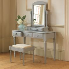 A charming and romantic addition to any bedroom, this gorgeous dressing table is also available in a range of natural wood finishes, as well as solid oak. Dressing Table, Wood, Table, Natural Wood Finish, Sweet Home, Handmade Furniture, Bedroom Decor, Bedroom Furniture, Handmade Bedroom Furniture